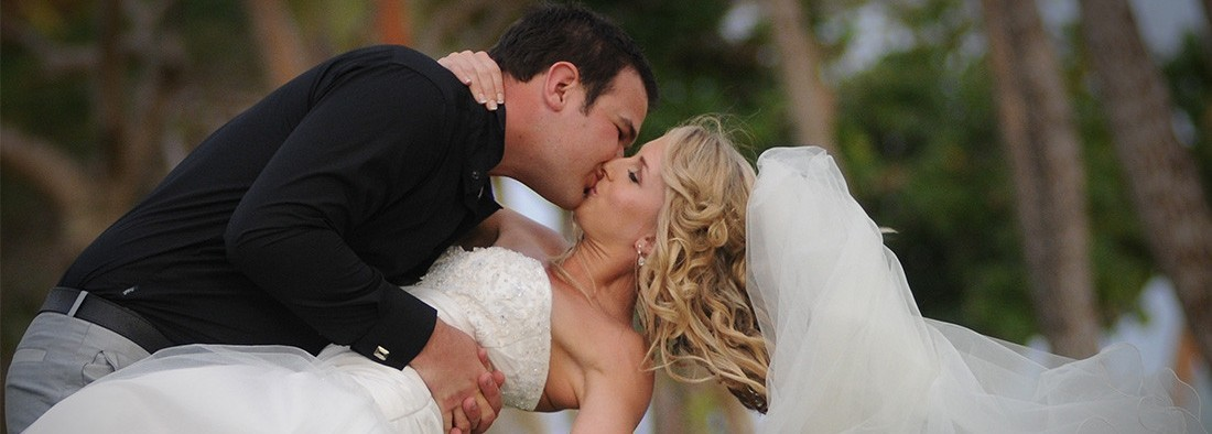 Destination Wedding Kiss